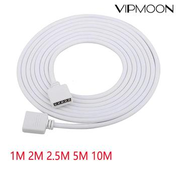 цена на 5pin RGBW RGBCW led connector Extension Cable cord Wire+ needle connectors 1M 2M 5M 10M for 5050 3528 RGBW RGBWW LED Strip light