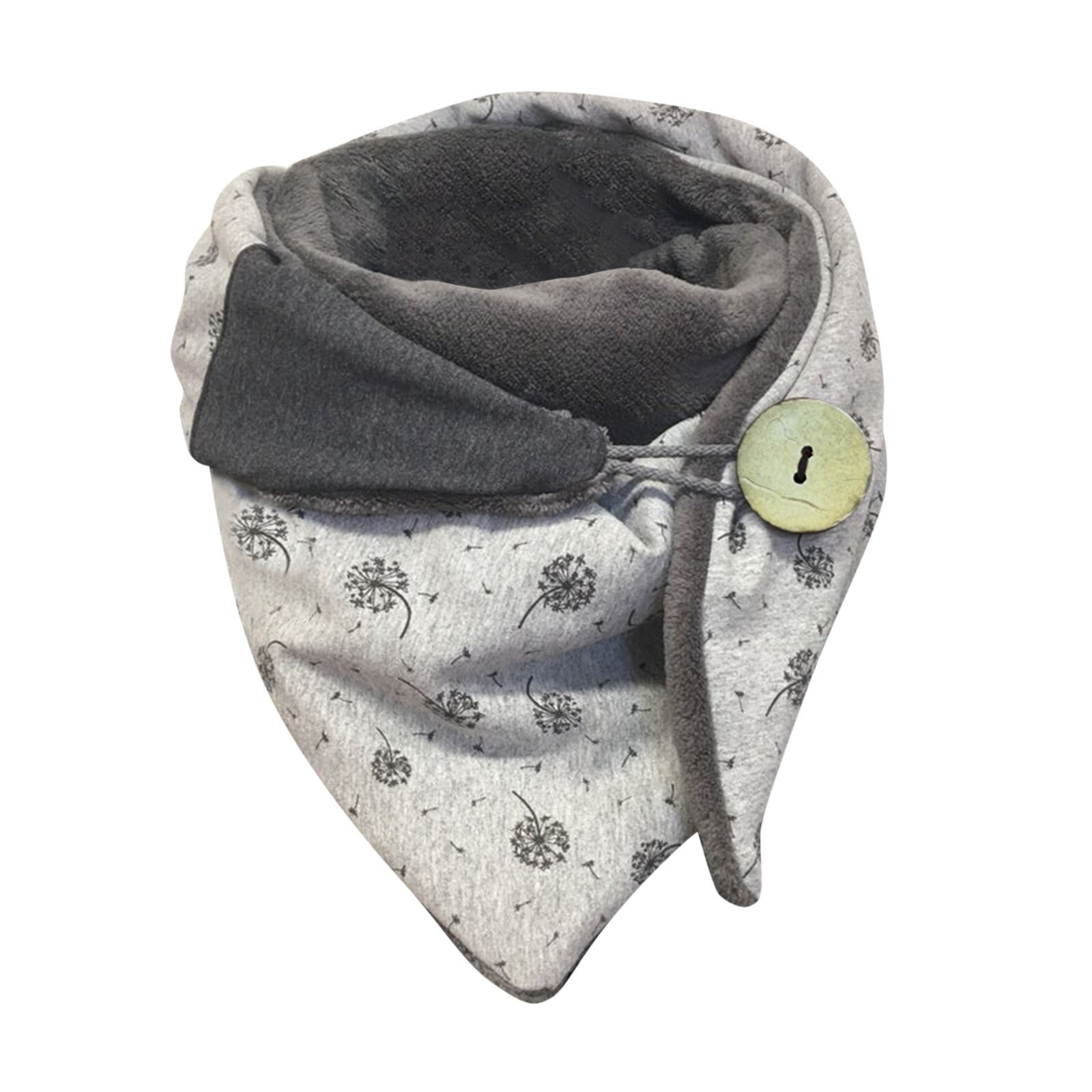 Retro Multi-Purpose Scarf Winter Women Print Double-Layer Buckle Windproof Button Scarf Soft Outdoor Keep Warm шарф A30