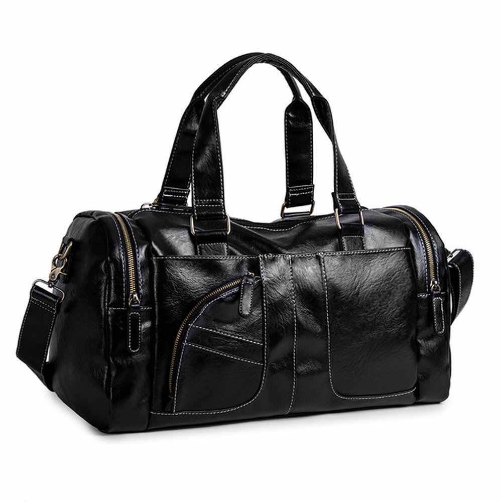 ผู้ชาย PU ระยะทางสั้นกระเป๋าเดินทางแบบพกพากระเป๋าเดินทางขนาดใหญ่ผู้ชายกระเป๋าเดินทางกระเป๋า B46-21