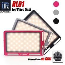 RL01 مصباح فيديو LED ، مصباح حشو Vlog 96 ، قابل للتعتيم ، 3500 5700K ، لكاميرات Canon ، Nikon ، Sony ، DSLR والهواتف الذكية