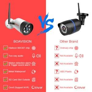 Image 2 - HD 1080P 5MP Wifi IP Kamera Outdoor Wireless Onvif Volle Farbe Nachtsicht CCTV Gewehrkugel Sicherheit Kamera TF Karte slot APP CamHi