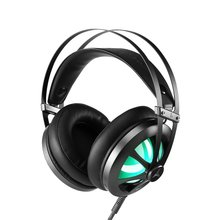 цена на Gaming Headset Stereo Over-ear Gaming Headphones with LED Light Built-in Microphone Wired Game Earphones for PS4 PC Gamer