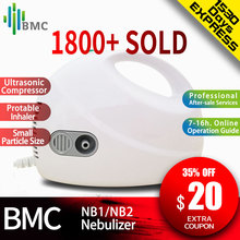 BMC Home Health Care Ultrasonic AtomizerแบบพกพาMini Nebulizerเด็กCareมือถือAirway Inhale Nebulizer
