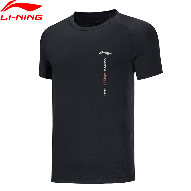 Li-Ning Men Training Series Sports T-Shirts Short Sleeve Slim Polyester Spandex LiNing Li Ning Sports Tee Tops ATSQ005 MTS3155