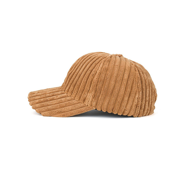Fashion Winter Solid Color Thick Corduroy Baseball Cap Female Winter Plush Thickening Student Warm Cap Couple Baseball Caps 8