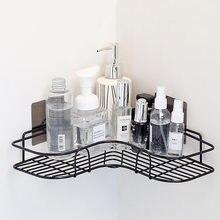 Mensola angolare semplice in ferro non perforato, cucina, bagno, mensola angolare per bagno