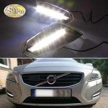 For Volvo S60 V60 2011 2012 2013,Light Off Style Relay Waterproof Matte ABS Car DRL 12V LED Daytime Running Light Daylight SNCN
