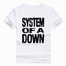 Asian Size Print System Of A Down SOAD ROCK METAL MUSIC T-shirt Short sleeve O-Neck T shirt For Men And man HCP691