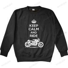 Nowa dostawa mężczyźni bluza z kapturem jesień bawełna odzież Fitness włoski motocykl Cafe Racer zachowaj spokój bluza unisex mężczyźni bluzy tanie tanio Jesień I Zima Na co dzień CASUAL CN (pochodzenie) Pełne COTTON POLIESTER Drukuj REGULAR Z okrągłym kołnierzykiem shubuzhi
