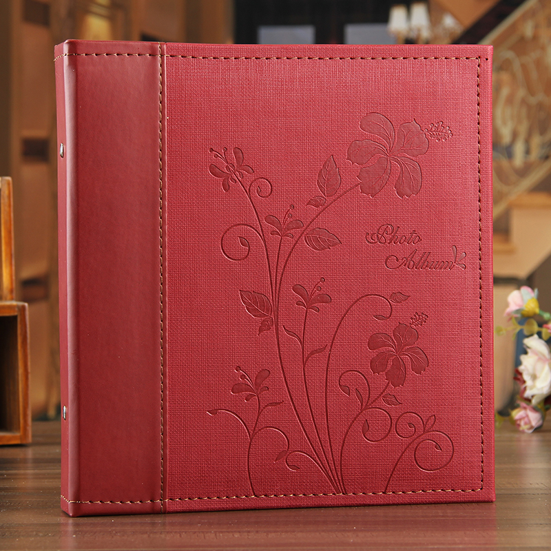 12 Inches Large This DIY Photo Album Self-adhesive Coated Type Series Leather Family Business Album Can Stick A4 Paper