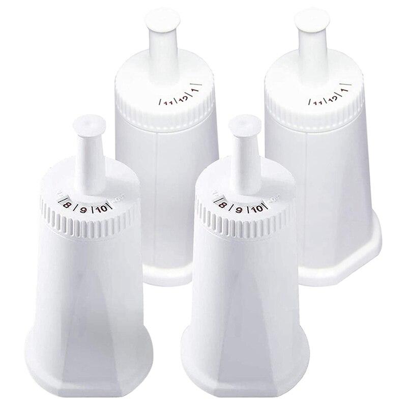 4 pacote de filtro de água de substituição para breville claro máquina de café expresso suíço-compare com parte bes008wht0nuc1