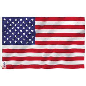 Anley Fly Breeze 3x5 Foot American US Flag USA Flags Polyester with Brass Grommets 3 X 5 Ft