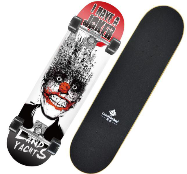 """31"""" Double Rocker SkateBoard Four-wheel Skate Board Short Board Kick Scooter"""