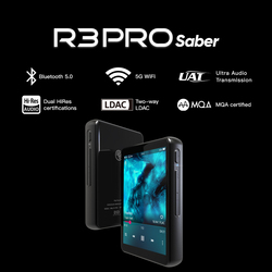 HiBy R3Pro Saber Network Streaming Music Player HiRes Lossless Digital Audio Tidal MQA 5Gwifi LDAC DSD web radio dual ES9218P