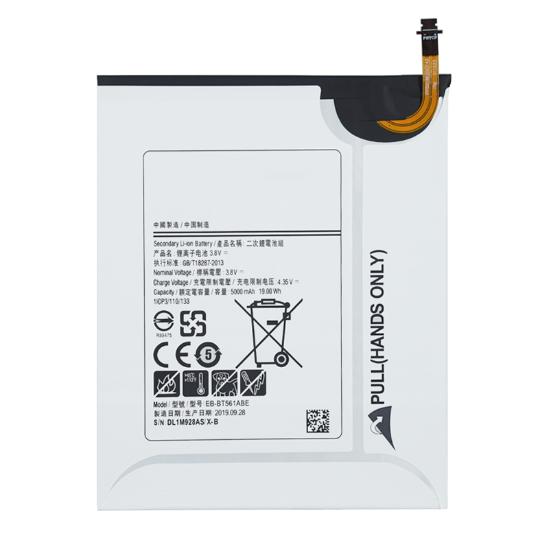 100% Original Replacement Battery EB-BT561ABE For Samsung GALAXY Tab E T560 T561 SM-T560 Tablet Battery 5000mAh+Tools