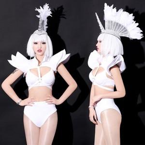 Jazz Dance Costume Sexy Women Stage Show Outfits Nightclub Bar Singer Gogo Dancer Costume Suit Women Performance Dance Wear