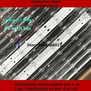 Image 1 - 60 قطعة/الوحدة 100% جديد نوعية جيدة LCD TV الخلفية بار ل 400S8606X8 A0035 E34036 40S 4 10 1.00.1.388015 S01R V1 94V O DY 01 14 أو