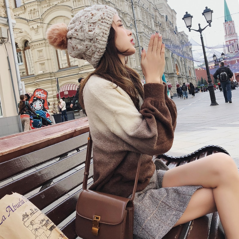 Mishow Casual Pullover 2008 Autumn Winter Knitwear New Korean Loose Lantern Sleeve Long Sleeve O Neck Sweater MX18D5528