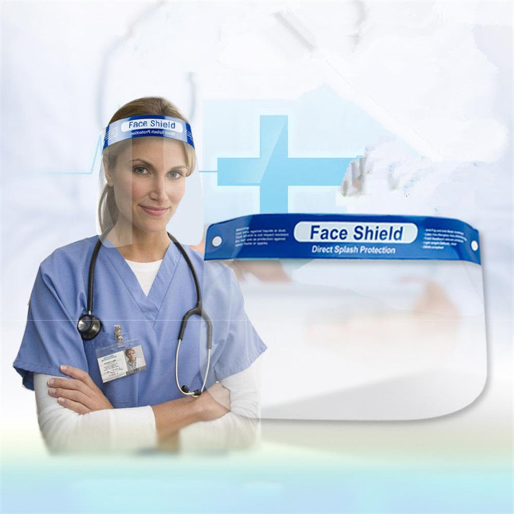 5PCS Face Masks Transparent Protective Mask Antivirus Anti-fog Oil UV Masks Full Face Shield Anti Dust Reusable Mask In Stock
