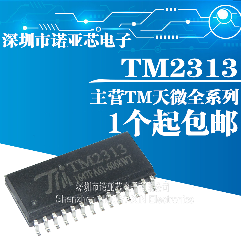 10pcs/lot Brand New Original TM2313 Patch SOP-28 TM Three Pairs Of Input Four Channel Digital Control Audio
