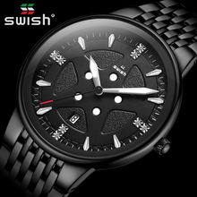 Horloges mannen модные черные часы мужские Топ бренд класса