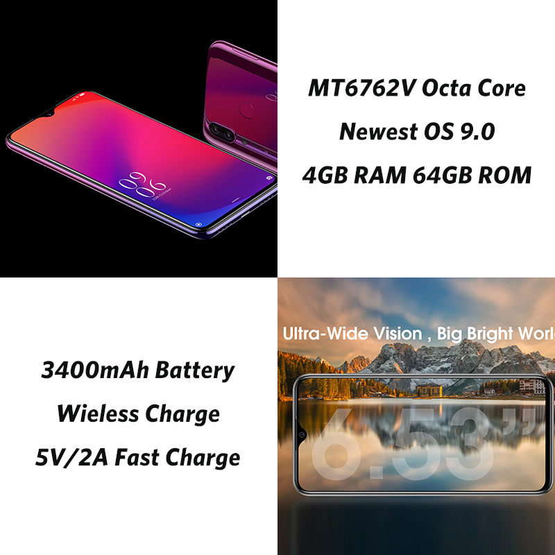Мобильный телефон Elephone A6 Mini 5,71 ''с Каплевидным экраном Android 9,0 MT6761 четырехъядерный HD + 4 ГБ 32 ГБ/64 Гб 16 МП 4G LTE смартфон - 5