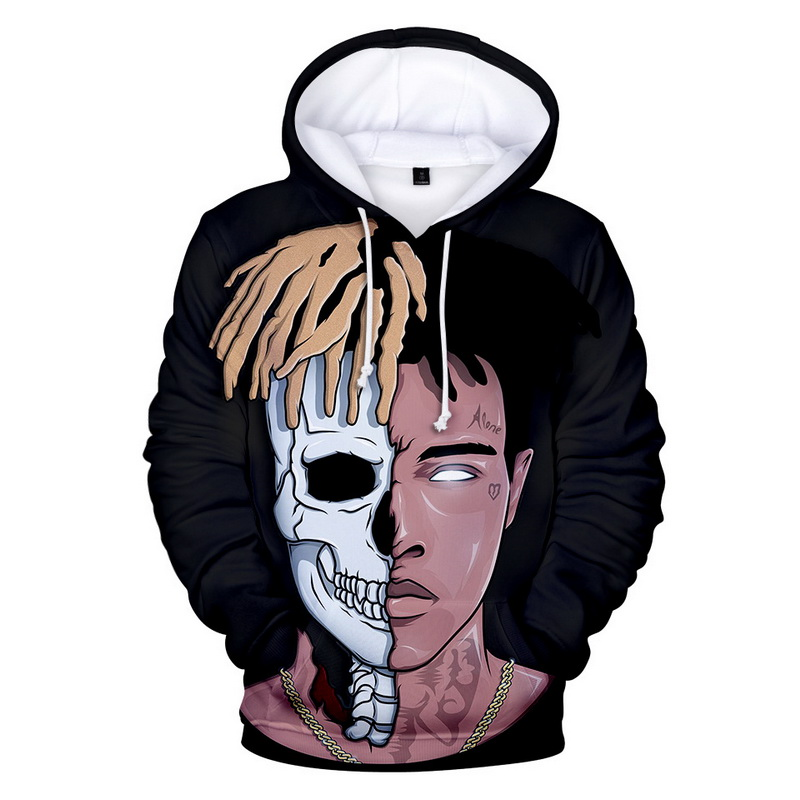 xxxtentacion hoodies style men brand fashion rapper 3d print pattern sweatshirts autumn long sleeve hip hop pullover plus size