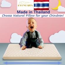 Moonlatex Thailand 100 Natural Children Latex Pillow Baby Sleeping Bed Orthopedic Child Soft Kids Head Neck Gift