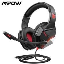 Mpow auriculares EG10 para videojuegos, cascos con cable de 3,5mm y micrófono de cancelación de ruido para PS4 Pro, PC, Xbox One, portátil, Juegos de PC