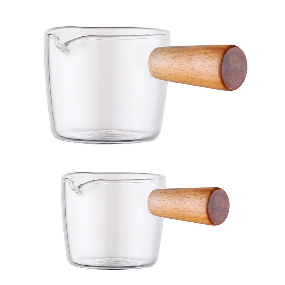 Multi-functional Taste Dish Coffee Mini Milk Cup Hand-draw Sauce Dish Japanese Style Glass Sauce Vinegar Snack Plate Tableware