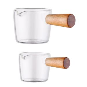 Multi-functional Taste Dish Coffee Mini Milk Cup Hand-draw Sauce Dish Japanese Style Glass Sauce Vinegar Snack Plate Tableware(China)