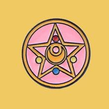 Sp016 Сейлор Мун значки аниме металлические с логотипом и броши