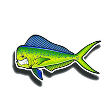 Car Sticker Funny Creative Angry Mahi Fish Reflective Automobiles Motorcycles Exterior Accessories PVC Decals,15cm*8cm недорого