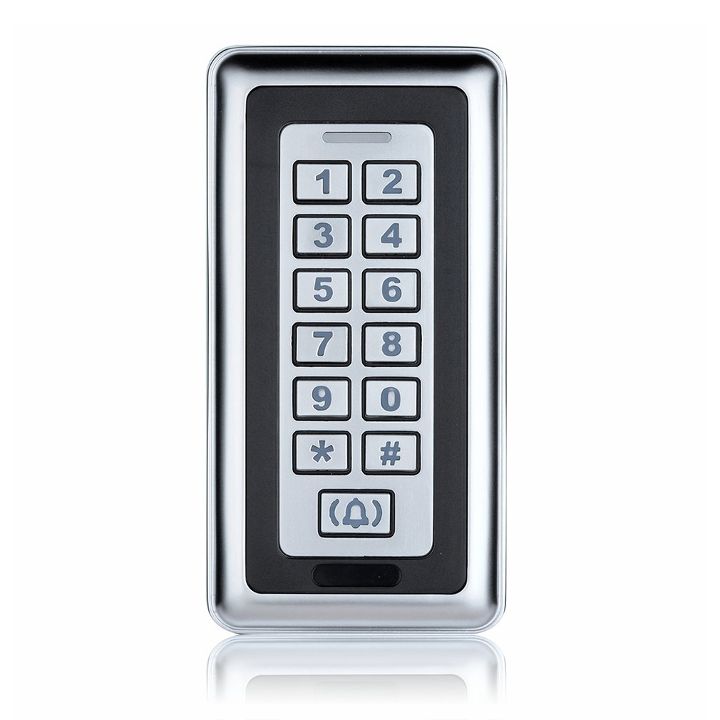 Id Card Access Control Machine Silver Metal Touch Access Controller Identification Card Password Access Controller
