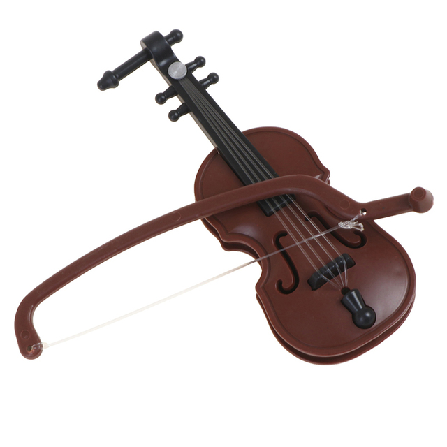 1/12 Dolls House Miniature Plastic Violin Music Instrument Model Accessories Toy 6