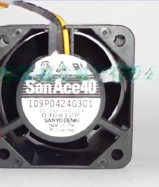 For SANYO 109P0424H6D22 Inverter Cooling fan For Fanuc DC24V 0.07A 4CM 3pin