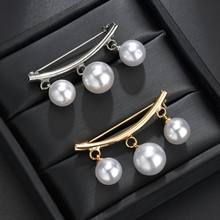 MissCyCy Fashion Pearl Pins For Woman Girl Imitation Brooch Classic Charm Accessories Simple Gold Color Pearls Brooches Jewelry(China)