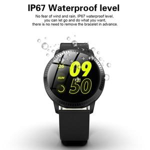 Image 2 - RUNDOING CF18 ผู้ชายสมาร์ทนาฬิกากันน้ำ IP67 ความดันโลหิต Tracker แฟชั่นผู้ชายกีฬาหลายโหมดกีฬา SmartWatch ผู้หญิง BAND