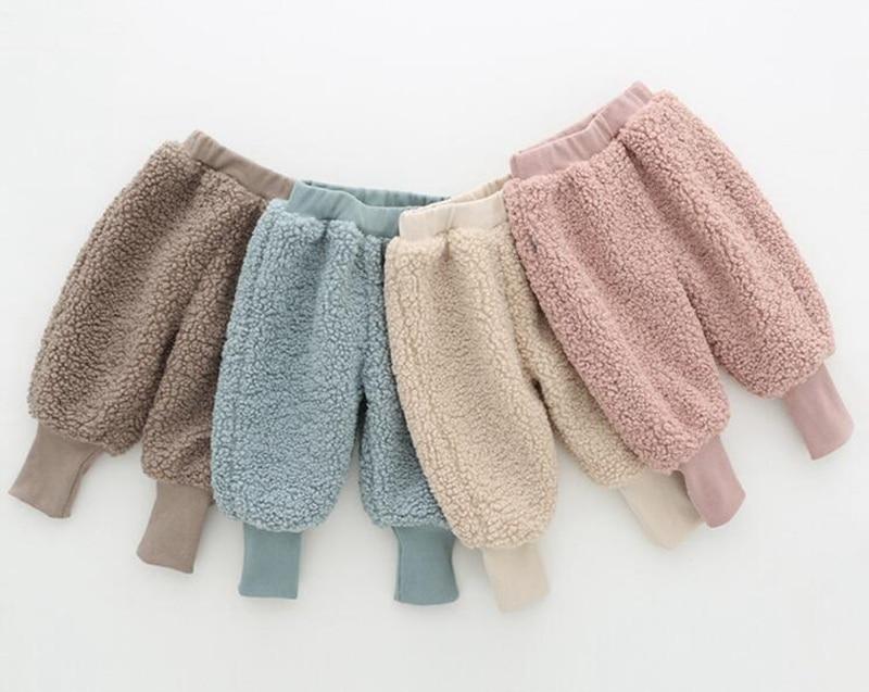 COOTELILI Winter Fleece Baby Girls Pants Trousers Baby Boys Pants warm Leggings Trousers For Girl Kids Girls Velvet Pants  (13)