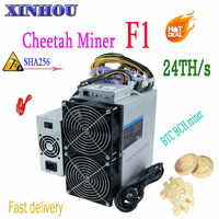 Asic Bitcoin Miner Cheetah Miner F1 24T BTC BCH miner with PSU more economical than M21S M20S Antminer S17 T17 S17e T17e T2T T3