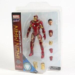 Image 4 - Figuras de acción de Marvel Select, Iron Man, MK43, Mark XLIII, muñecos de juguete, Brinquedos, modelo regalo de colección