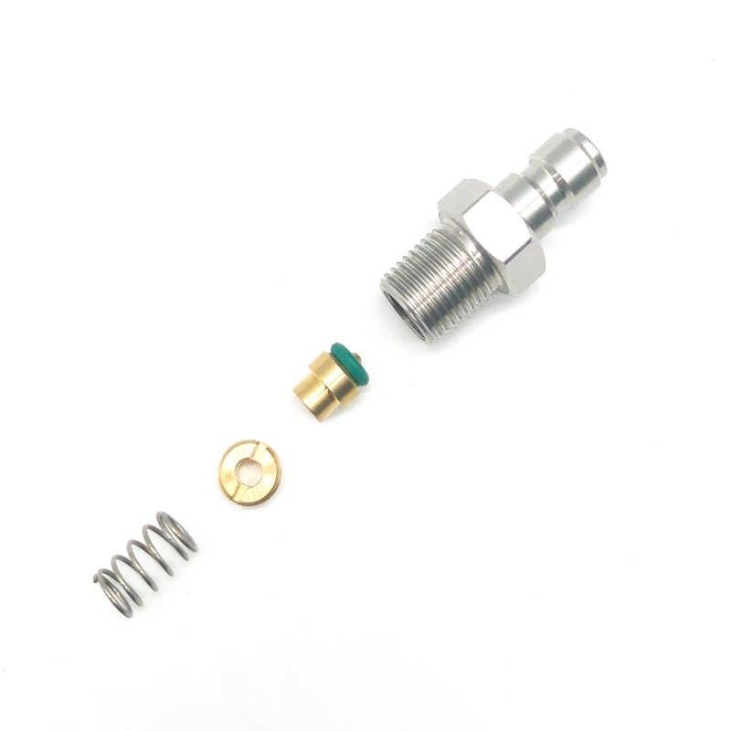 PCP paintball de acero inoxidable HPA/N2, válvula de retención unidireccional 1/8NPT Rosca