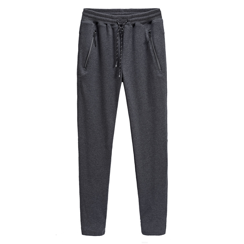New Style Men Plus-sized Brushed And Thick Men'S Wear Loose-Fit Trousers Elasticity Casual Sports Pants