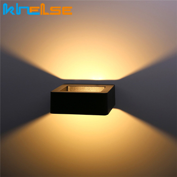 Outdoor Waterproof Aluminum Wall Lamp 7W LED Wall Light Garden Light Porch Patio Corridor Light Front Door Wall Lights Square outdoor led wall lamp waterproof ip54 porch lights garden wall lamps aluminum alloy courtyard corridor porch lights ac85 265v