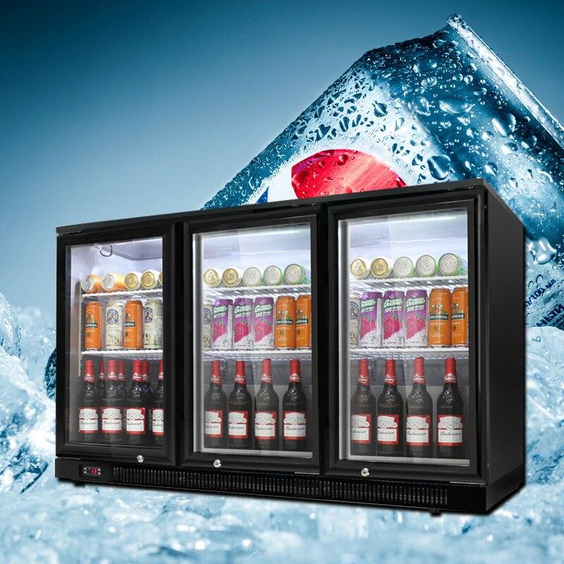 220V Commercial Refrigerator Bar KTV Beverage Beer Freezer Intelligent Double Door Three Door Straight Cold Ice Wine Cabinet