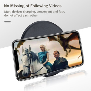 Image 5 - Chargeur sans fil rapide 10W pour Samsung Galaxy S9 S9 + S8 S7 Note 9 S7 Edge USB Qi chargeur pour iPhone XS Max XR X 8 Plus