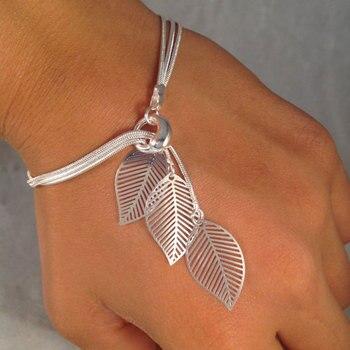 Женские браслеты с листьями