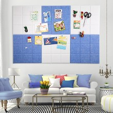 6PCS Adhesive Felt Wall Sticker Collecting Board DIY Puzzle Photo Display Message File Storage Board Children Kindergarten Decor
