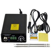 Station de fer à souder numérique 110V 220V T12, contrôleur de température, prise ue + poignée T12 + embouts T12 BCM2 et T12 K