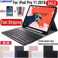 Keyboard Case for Apple iPad Pro 11 2018 Cover A1979 A1980 A2013 A1934 Slim Leather Funda Bluetooth Keyboard with Pencil Slot